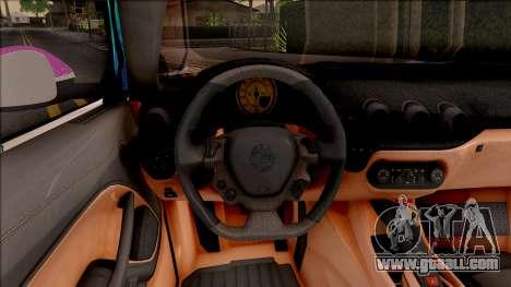 Ferrari F12 Berlinetta Noraimo Miku Racing 2016 for GTA San Andreas inner view