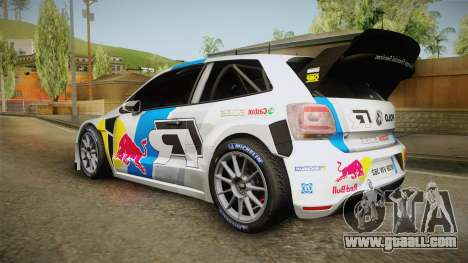 Volkswagen Polo R WRC for GTA San Andreas left view