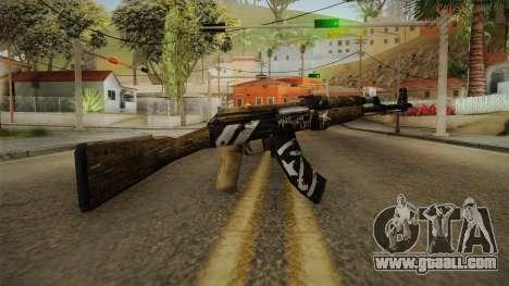 CS: GO AK-47 Wasteland Rebel Skin for GTA San Andreas second screenshot