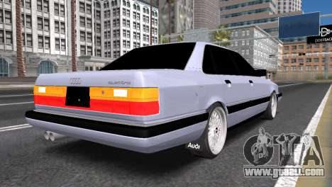 Audi 200 for GTA San Andreas back left view