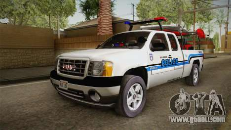 GMC Sierra San Andreas Police Lifeguard 2010 for GTA San Andreas