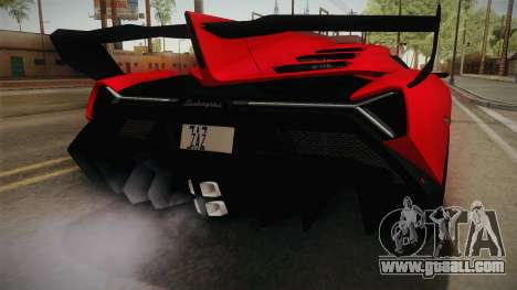 Lamborgini Veneno Roadster 2014 IVF v2 for GTA San Andreas upper view