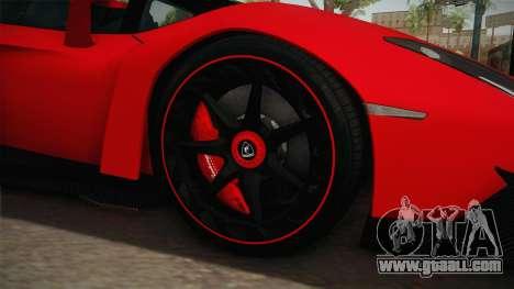 Lamborgini Veneno Roadster 2014 IVF v2 for GTA San Andreas back view