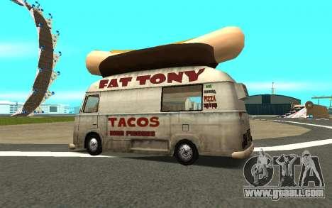 HotDog Fat Tony Tacos Tining 4X4 for GTA San Andreas left view