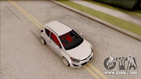 Hyundai i20 for GTA San Andreas right view