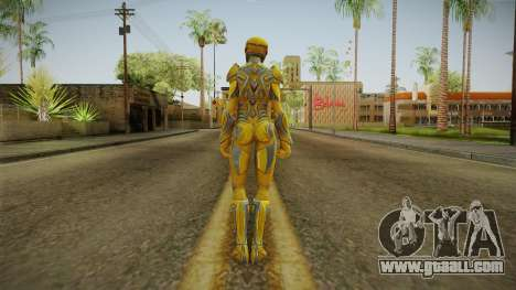 Yellow Ranger Skin for GTA San Andreas third screenshot