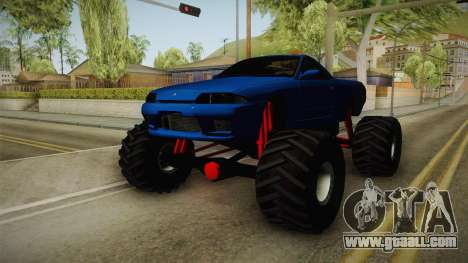 Nissan Skyline R32 Pickup Monster Truck for GTA San Andreas right view
