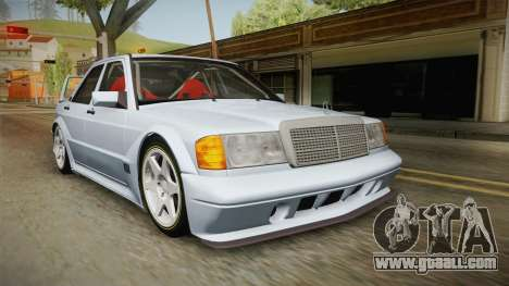 Mercedes-Benz W201 190E for GTA San Andreas back left view