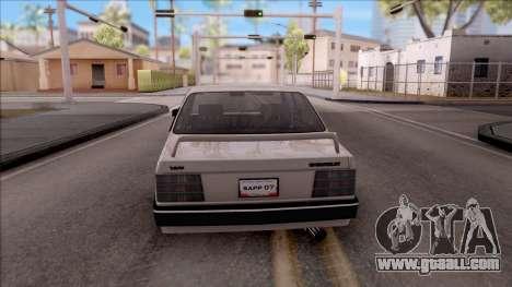 Chevrolet Chevette SLE 88 for GTA San Andreas back left view