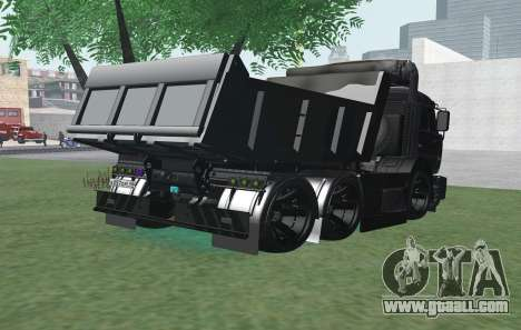 KAMAZ 65115 BLACK NIGHT for GTA San Andreas back left view