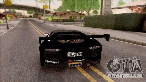 Lamborghini Aventador LP700-4 LB Walk Hunter for GTA San Andreas back left view