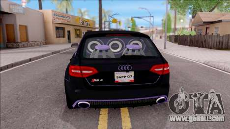 Audi RS4 Avant Edition Tron Legacy for GTA San Andreas back left view