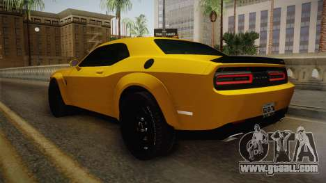 Dodge Challenger Demon 2018 for GTA San Andreas back left view