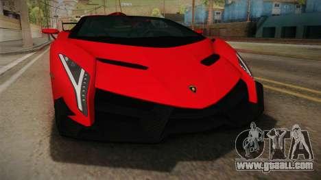 Lamborgini Veneno Roadster 2014 IVF v2 for GTA San Andreas inner view