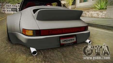 Porsche 911 RWB Terror 1982 for GTA San Andreas interior