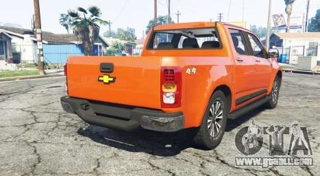 GTA 5 Chevrolet S10 Double Cab 2017 [replace] rear left side view