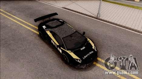 Lamborghini Aventador LP700-4 LB Walk Hunter for GTA San Andreas right view
