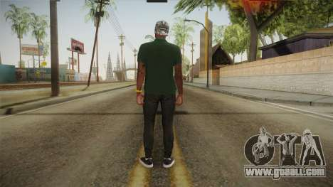 GTA 5 Online Guillermo Skin for GTA San Andreas third screenshot