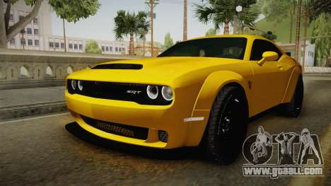 Dodge Challenger Demon 2018 for GTA San Andreas right view