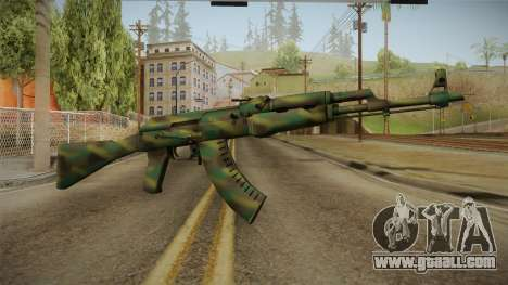 CS: GO AK-47 Jungle Spray Skin for GTA San Andreas
