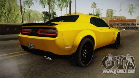 Dodge Challenger Demon 2018 for GTA San Andreas left view