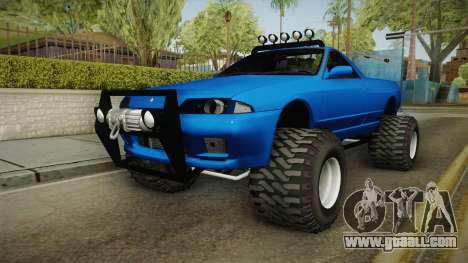 Nissan Skyline R32 Pickup Off Road for GTA San Andreas back left view