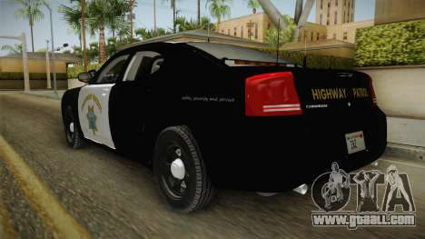 Dodge Charger CHP 2010 for GTA San Andreas back left view