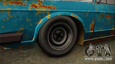 Tatra 613 Rusty for GTA San Andreas back view