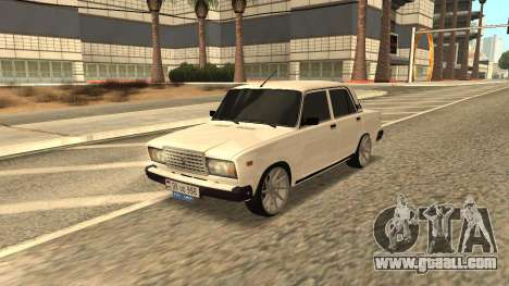 VAZ 2107 Armenian for GTA San Andreas back view