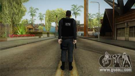 Turkish Police-Rapid Response Unit-Long Sleeves for GTA San Andreas third screenshot