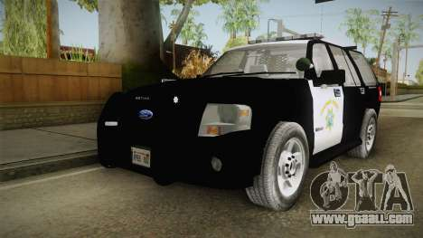 Ford Expedition CHP for GTA San Andreas