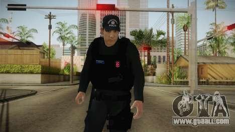 Turkish Police-Rapid Response Unit-Long Sleeves for GTA San Andreas