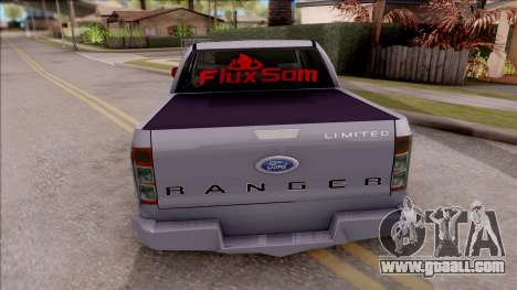 Ford Ranger 2014 Edition Flux Som for GTA San Andreas back left view