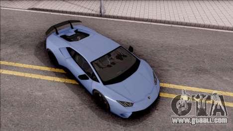Lamborghini Huracan Performante for GTA San Andreas right view