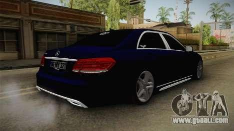 Mercedes-Benz E250 Noyan for GTA San Andreas back left view