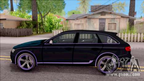 Audi RS4 Avant Edition Tron Legacy for GTA San Andreas left view
