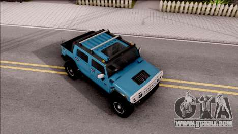 Hummer H2 Sut 4x4 for GTA San Andreas right view