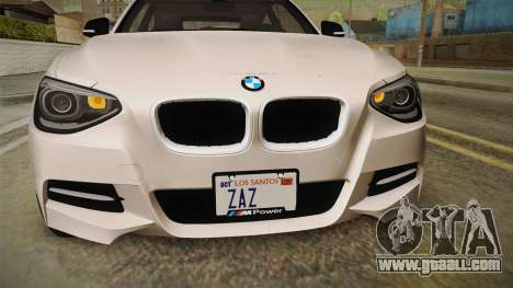 BMW M135i 2013 for GTA San Andreas upper view