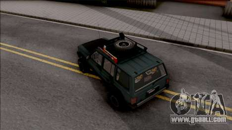 Jeep Cherokee 1984 Off-Road for GTA San Andreas back view