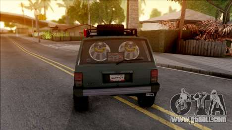 Jeep Cherokee 1984 Off-Road for GTA San Andreas back left view