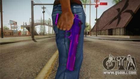 Purple Desert Eagle for GTA San Andreas third screenshot