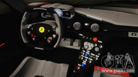 Ferrari FXX-K for GTA San Andreas inner view