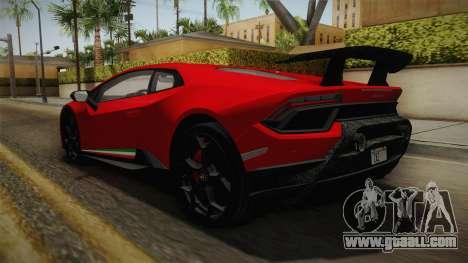 Lamborghini Huracan Performante LP640-4 2017 v1 for GTA San Andreas back left view
