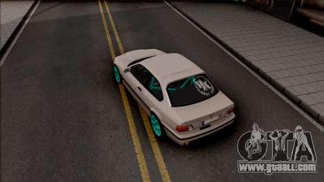 BMW M3 E36 Drift v2 for GTA San Andreas back view
