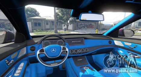 GTA 5 Mercedes-Benz S63 red brake caliper [replace] rear right side view