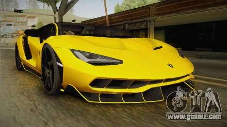 Lamborghini Centenario LP770-4 v1 for GTA San Andreas