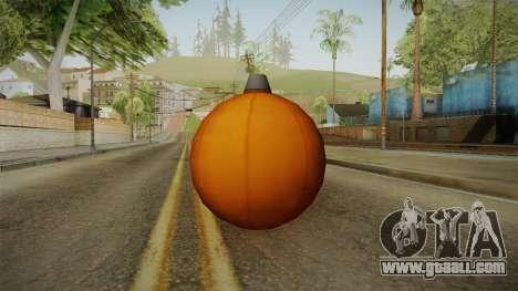 Green Goblin Classic Pumpkin Grenade for GTA San Andreas second screenshot