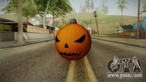 Green Goblin Classic Pumpkin Grenade for GTA San Andreas
