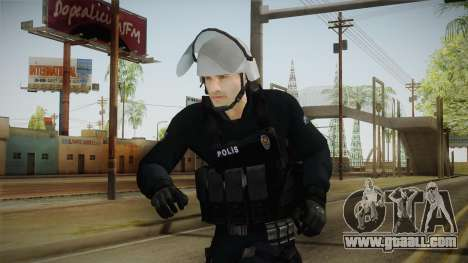 Turkish Riot Police with Gear for GTA San Andreas