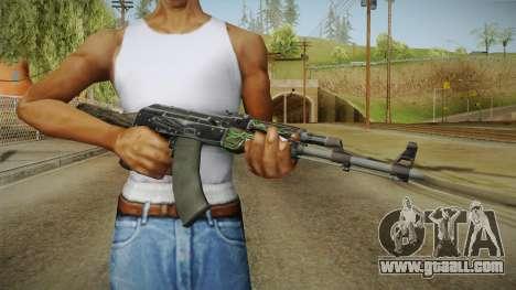CS: GO AK-47 Emerald Pinstripe Skin for GTA San Andreas third screenshot